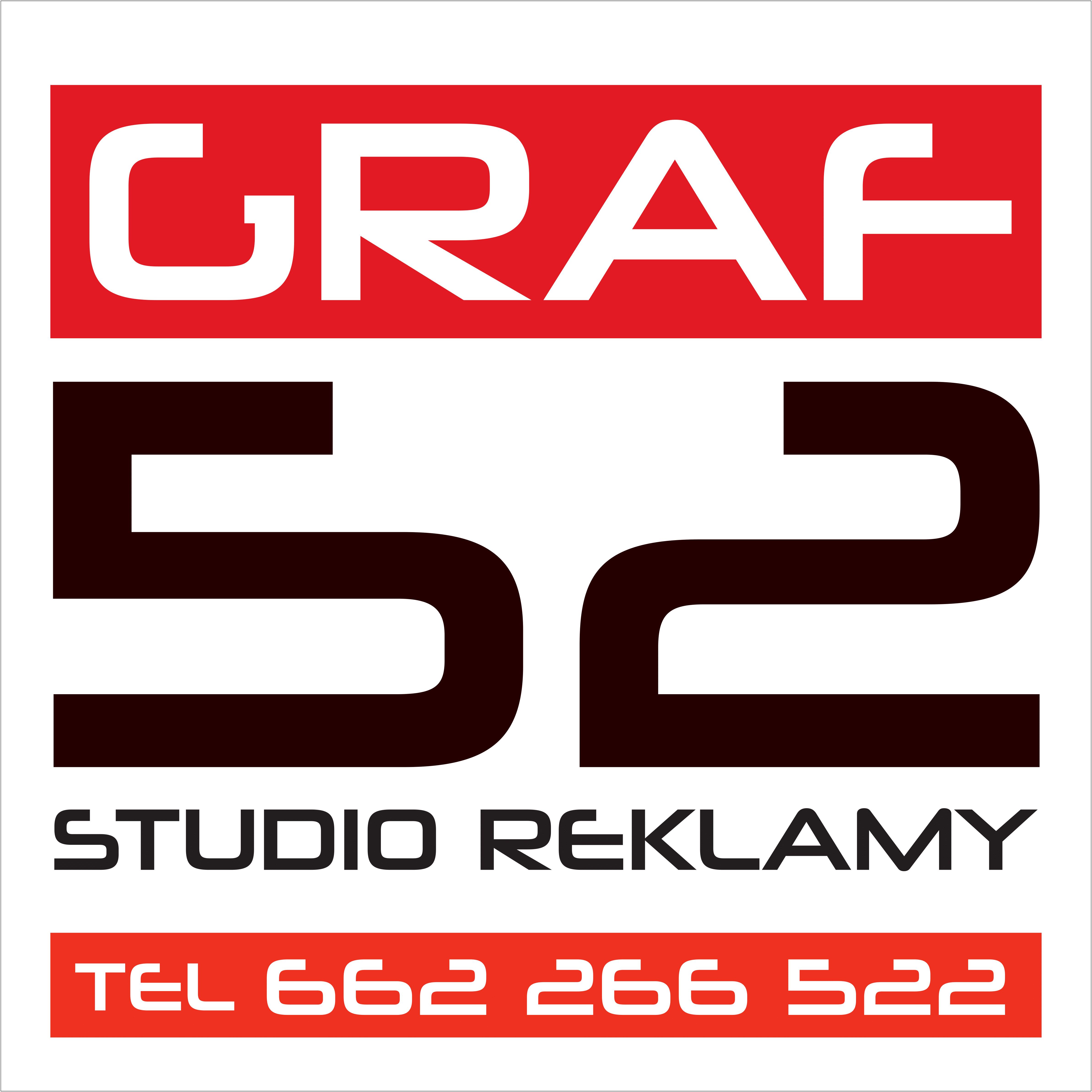GRAF52 – Banery reklamowe, pieczątki, szyldy, oklejanie, branding, kampanie reklamowe – PRZEŹMIEROWO – POZNAŃ
